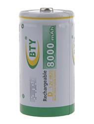 Batterie - Ni-MH - D - BTY - 8000mAh - mAh
