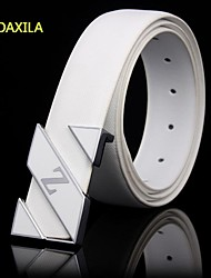 The new man made leather leisure belt fashion plate buckle belt buckle DXL-890 smoothing