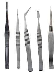 Pinças de aço inoxidável 5pcs de metal