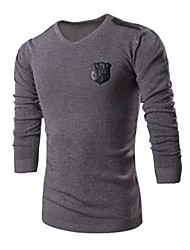 Men's Casual Long Sleeve Regular Pullover