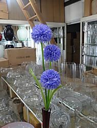 Trois têtes hyfrangeas bleu fleurs artificielles set 2