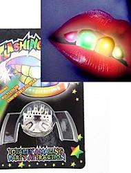 nouveauté 2ème génération multi-couleur LED clignote fausses dents accessoires Halloween cosplay parti accessoires