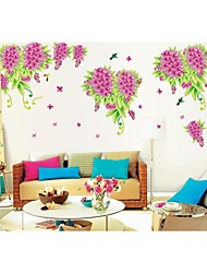 Wall Stickers Wall Decals, Style Lilac Butterfly PVC Wall Stickers