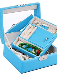 Wedding Gifts Faux Leather Jewelry Box Birthday Gift Beads Storage Case Watch Case Travel