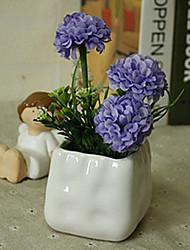 hygrangeas azuis artificiais flores com vaso
