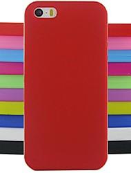 Couleur unie/Couleur mixte/Design spécial/Nouveauté - Couvre arrière - pour iPhone 4/4S/iPhone 4 ( Multicolore , Silicone )