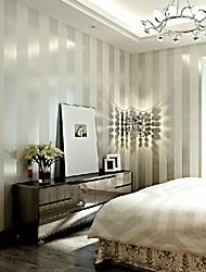 Rayure Fond d'écran pour la maison Contemporain Revêtement , Intissé Matériel adhésif requis Mural , Couvre Mur Chambre