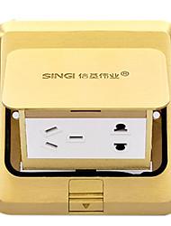 Singi on Floor Copper Up-socket (Waterproof, Five-hole, with Bottom Box)