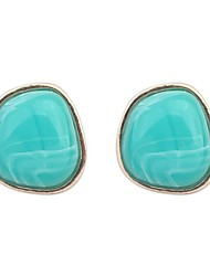 Women's Clearance Irregular Geometric Resin Bead Stud Earrings