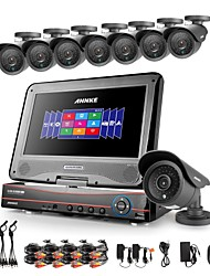 ANNKE® 8CH AHD 960H DVR/HVR/NVR+8 800TVL Analogy 100ft IR CUT Night Vision Security Camera System(No HDD)