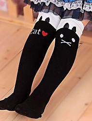 Girl's Winter/Spring/Fall Cartoon Cat Stretchy Medium Leggings (Cotton/Polyester)