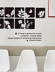 estilo chinês Tags flor PVC removível ambientais&adesivo