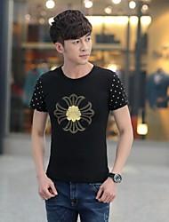 toevallige katoen afdrukken met korte mouwen t-shirts voor mannen (meer kleuren)