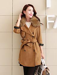 Women's Double-breasted Long Coat