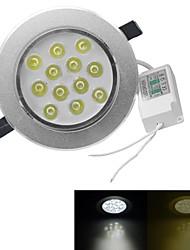 jiawen® dimmbare 12W 1080-1200lm 3000-3200K / 6000-6500K warmes weißes / weißes Licht geführt receseed Lichter (AC 100-240V)