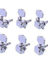 3R3L Chrome Semiclosed Tuning Pegs Machine Heads for Acoustic Guitar