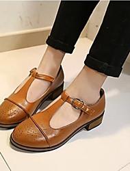 sapatos de salto grosso de moda feminina winble