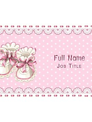 Business Cards 200pcs Baby Products Shoes Pink  Pattern 2 Sided Printing of Fine Art Filmed Paper