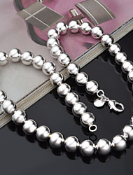 Women's Chain Necklaces Silver Sterling Silver Snake Fashion Silver Jewelry Party Casual 1pc