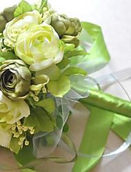un bouquet de 20 roses de soie de simulation de tissu wedding bouquet de mariage mariée tenant des fleurs