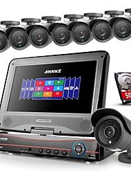 ANNKE® 8CH AHD 960H DVR/HVR/NVR+8 800TVL Analogy 100ft IR CUT Night Vision Security Camera System(500GB HDD)
