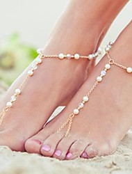 Beads Chain Anklet Decorative Accents for Shoes One Piece