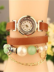 Women's 2015 The Latest Fashion Pearl Leather  Quartz Watch(Assorted Colors) Cool Watches Unique Watches