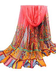rouge mince fil bali surdimensionné écharpe des femmes