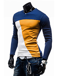 Nicholas  Men's Casual V-Neck Long Sleeve T-Shirts
