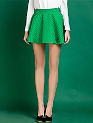 moda cor sólida saias uma linha de mulheres (mais cores)