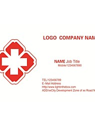 Business Cards 200pcs First Aid Service Hospital Pattern 2 Sided Printing of Fine Art Filmed Paper