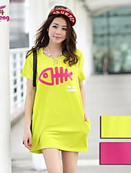 RanSheng Women's Beach/Cute Micro-elastic Short Sleeve Above Knee Maternity Dress