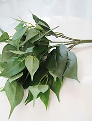 """15,7 """"feuille de 1pc de style oreille h artificielle chat plante / paquet"""