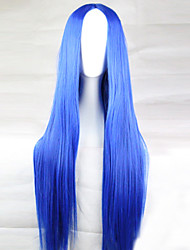 The New Animation Carved Blue Long Straight Hair Wig 80CM