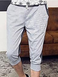 Shorts ( Schwarz/Grau , Baumwolle ) - für Freizeit - für MEN - Bedruckt