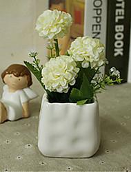hygrangeas brancas artificiais flores com vaso