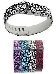 crânio de substituição de borracha TPU pequeno e grande banda tamanho do pulso para Fitbit Flex dispositivos pulseira inteligentes