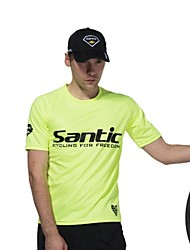 SANTIC Bike/Cycling Jersey / T-shirt / Tracksuit / Tops Men's Short SleeveBreathable / Ultraviolet Resistant / Quick Dry / Lightweight