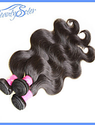 "3Pcs/Lot 10""~28"" Brazilian Virgin Hair Body Wave Color1B Unprocessed Human Hair Extensions Grade6A"
