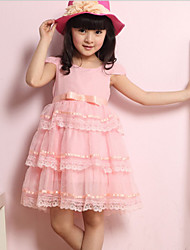 Girl's Fashion Princess Short Sleeve Dresses