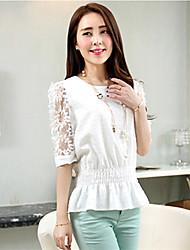 Women's White Shirt ½ Length Sleeve