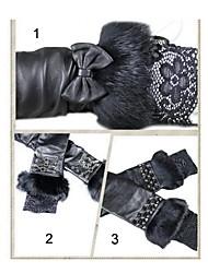 luvas de couro de pele de cordeiro rendas Moda feminina (mais projetos)
