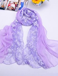 Shawls Chiffon/Polyester Matching Rose Print Scarves(More Colors)