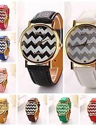 les femmes agitent bande PU diamant en cuir robe de support de dame marque de luxe montre-bracelet (couleurs assorties) c&D-193