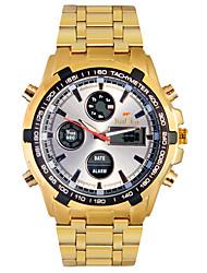 Мужской Наручные часы Кварцевый LED / LCD / Календарь / Секундомер / Защита от влаги / С двумя часовыми поясами / тревога сплав Группа