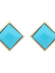 Women's EU&US Cute Square Shape All Match Stud Earrings