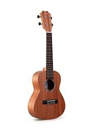 """Tom 23 """"top concerto mogno maciço ukulele com corda aquila"""