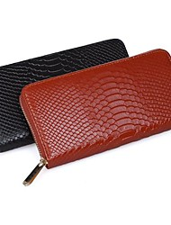 MEGA Women's  Snake Pattern Wallets Zipper long Purse Organizer Clutch Wallet Day clutche