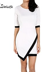 Women's Fashion Women Asymmetrical Bandage Bodycon  Evening Party Cocktail Dress