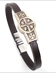 Tina -- Fashion Alloy Skull Leather Bracelet in Party